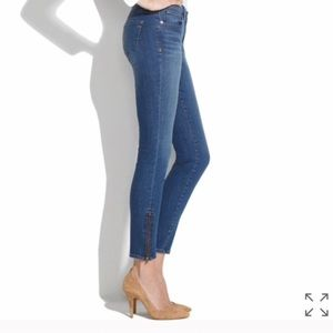 Madewell jeans with zipper